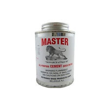 Masters All Purpose Cement 8 Oz. Glue Leather Rubber Wood Glass Brush in Can