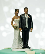 Love Pinch Ethnic Couple Funny Wedding Cake Topper