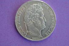 RARE SUP cote 250 euro  5 FRANCS LOUIS PHILIPPE 1837 W  portrait !!