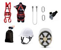 SET Baumpflege Kletterschutz Fallschutz Sicherheitsgurt bis 140kg Seil Helm