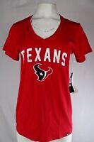 Houston Texans NFL '47 Brand Women's Red Short Sleeve Distress Logo T-Shirt