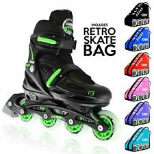 148 Black Kids Boys Girls Size Adjustable Inline Roller Blades   Crazy Skates