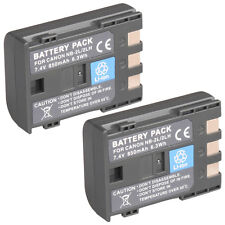 2 x NB-2L NB-2LH Battery for Canon NB-2L5 400D 350D PC1018 DC310 G9 S40
