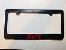 Ford SVT & SVT Raptor Black Plastic License Plate Frame Holder Red