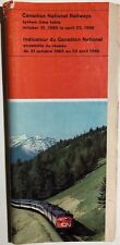 CANADIAN NATIONAL RAILWAYS Time Table October 31, 1965