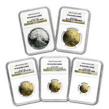 1995-W 5-Coin Proof Gold & Silver Eagle Set PF-69 NGC (10 Anniv) - SKU #61287