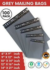Grey Postage Mailing Bags Strong Cheap Recycled Plastic Poly Postal Self Seal