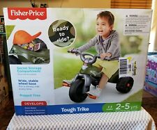 NEW! Fisher-Price Tough Trike Camo Toddler Ride Outdoor Tricycle Toy ages 2-5