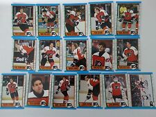 1989-90 O-Pee-Chee OPC Philadelphia Flyers Team Set of 16 Hockey Cards