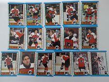 1989-90 O-Pee-Chee OPC Philadelphia Flyers Team Set of 16 Hockey Cards