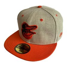 Baltimore Orioles New Era MLB Oatmeal Fitted Baseball Hat Size 7 5/8