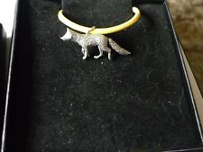 """Fox codea23 Made From Fine English Pewter On a 18"""" Yellow Cord Necklace"""