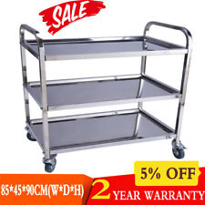 Stainless Steel Trolley Cart Kitchen Train Restaurant Serving Catering Non Rust