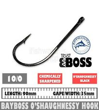 O'Shaughnessy Hooks Black 10/0 25 pack  BAYBOSS TACKLE Fishing