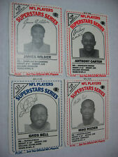 NFL PLAYERS SUPERSTARS SERIES milk cards lot 4 ANTHONY CARTER Rozier GREG BELL