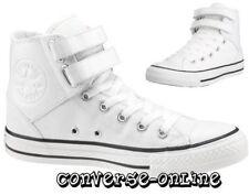 Da Donna Da Uomo Ragazzi Converse All Star 2 Strap Hi Top Scarpe Da Ginnastica Bianco Stivali UK 5