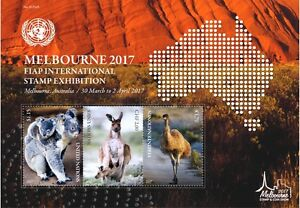 UNO NEW YORK - 2017 BLOCK 51 - 34. ASIATISCHE AUSSTELLUNG MELBOURNE AUSTRALIA **