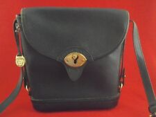DOONEY & BOURKE Purse Crossbody Bllack Leather/Brass Shoulder Bag Vintage RARE