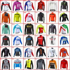 Mens Long Sleeve Cycling Jersey Bike Shirts Racing Bicycle Tops Sport Unifrom