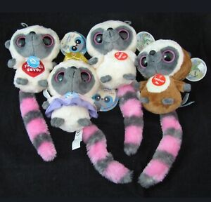 AURORA Plush Set of 4 Bush Baby Sound Big Eye Horse Princess YooHoo & Friends