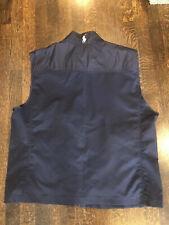 $195 Ralph Lauren Polo Golf Navy Blue Wind Rain Full Zip Vest Xl