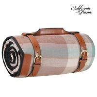 Extra Large Luxurious Outdoor Blanket, Waterproof Picnic Blanket 87 X 67 Inch