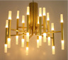 Home Industrial 24/36 Gold Metal Glass Branch Chandelier Pendant Ceiling Light