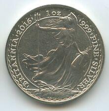 GS458 - Großbritannien 2 Pounds 2016 Silber-Unze Britannia Ounce 1 Oz