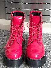 Red Doc martens, Size 6 (Lookalike)