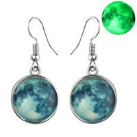 Full Moon Glow in the dark Earrings Glowing Ear Studs Luminous Jewelry Fashio FO