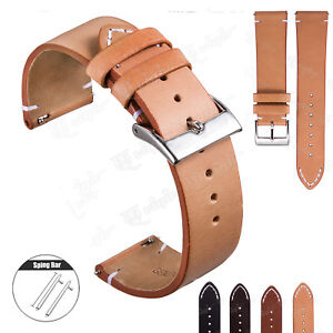 20/22mm Leather Quick Release Wrist Strap Band For Samsung Galaxy Watch 42/46mm