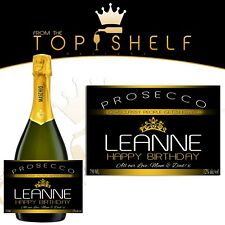Personalised Prosecco bottle label how classy people get sh*tfaced funny gift