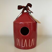 New Rae Dunn Red FA LA LA! Christmas 2020 Ceramic LL Round Birdhouse