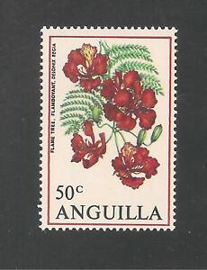 Anguilla #90 (A11) VF MNH - 1970 50c Flamboyant / Flowers