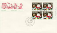 CANADA #1067 34¢ SANTA CLAUS PARADE UR PLATE BLOCK FIRST DAY COVER