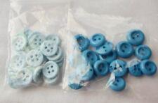 2 Lots Vintage Blue Buttons 28 Lt Blue 4 Hole 18 Blue 2 Hole
