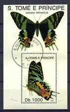 Papillons Saint Thomas et prince (19) bloc oblitéré