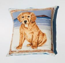 """Dog Beach Cushion Cover Sofa Decorative Pillow Case fits 18"""" x 18"""" cushion"""