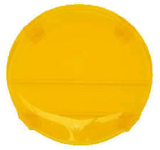 Boss 4WD Yellow Fog Covers suit Hella Rallye FF4000 Large 220mm (Pair)