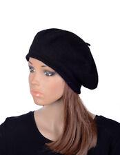 M496 Black Women's Cute Classic Wool Acrylic Winter Beanie Hat Beret Cap Cool