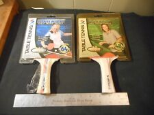 2 NOS Sportcraft ping pong table tennis paddles Reliant , Contender Bronze + sil