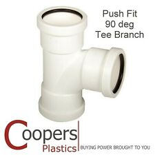Push Fit Waste 90 degree 32mm 40mm Tee T Branch