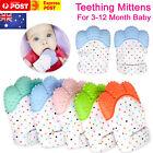 Silicone Baby Teether Teething Mitt Mitten Glove Safe BPA Free Chew Dummy Toy AU