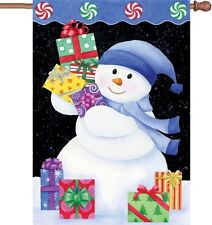 "Snowman Presents House Flag Large 40"" x 28"""