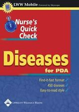 Nurse's Quick Check. Diseases for PDA (2004, CD-ROM)  Free Shipping.