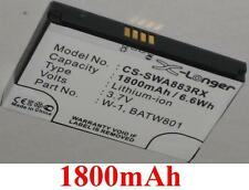 Batterie 1800mAh type 1201883 BATW801 W-1 Pour Virgin Mobile Overdrive Pro 3G