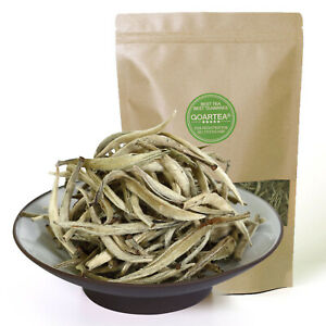 GOARTEA Supreme Silver Needle White Tea Chinese Tips Bai hao Yin zhen Loose Leaf