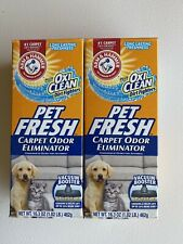 2 Lot Arm & Hammer Pet Fresh Oxi Clean Carpet Odor Eliminator Deodorize 16.3 oz