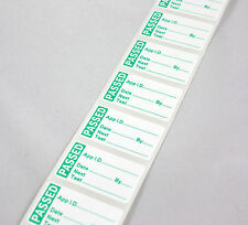 10 PAT Testing Pass Labels/Stickers PASSED Strong Polypropylene Non Rip 40 x24mm