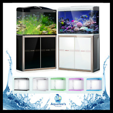 AQUATEE (XQ520A) 66-LTR AQUARIUM+CABINET FISH TANK LED WATER PUMP FILTER BLACK